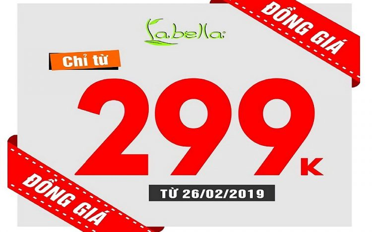 SAME PRICE VND299 000 FOR 2019 SPRING – SUMMER ITEMS