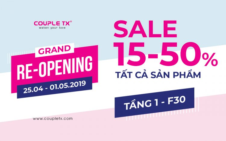 HAPPY RE-OPENING WITH COUPLE TX PROMOTIONS