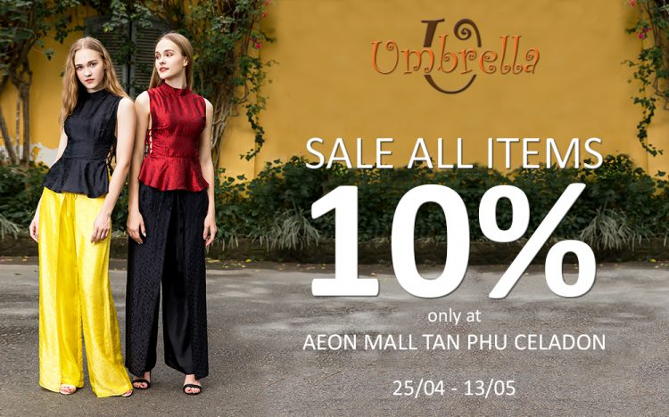 DISCOUNT 10% FOR ALL ITEMS
