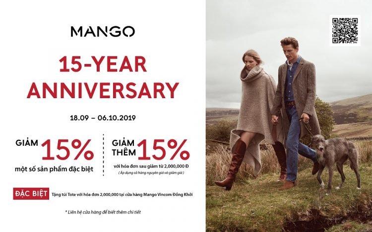 HAPPY MANGO 15-YEAR ANNIVERSARY