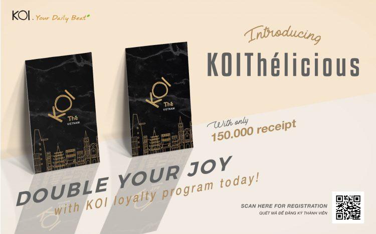 KOI THÉ'S MEMBER CARD READY
