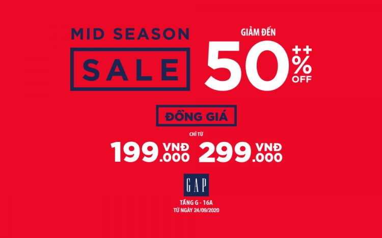 GAP MID SEASON SALE – COUNTLESS OF OFFERS