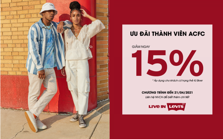 LEVI'S – SPECIAL DISCOUNT FOR ACFC MEMBER