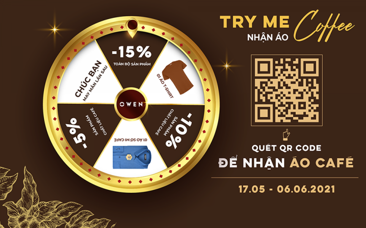 """MINIGAME """"TRY ME – COFFEE T-SHIRT"""""""