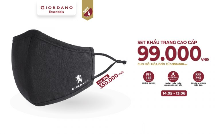GIORDANO | PROTECTIVE FACE MASK ONLY VND 99.000