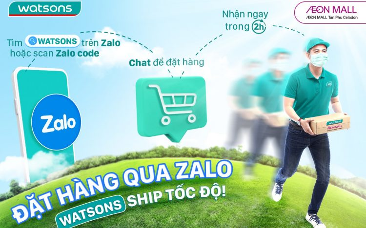 WATSONS CHAT & SHOP – CHAT ZALO WITH STORE AND DELIVERY IN 2H