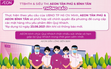 [HCMC] AEON JOIN UP TO SUPPLY NECESSARY GOODS FOR THE GOVERNMENT