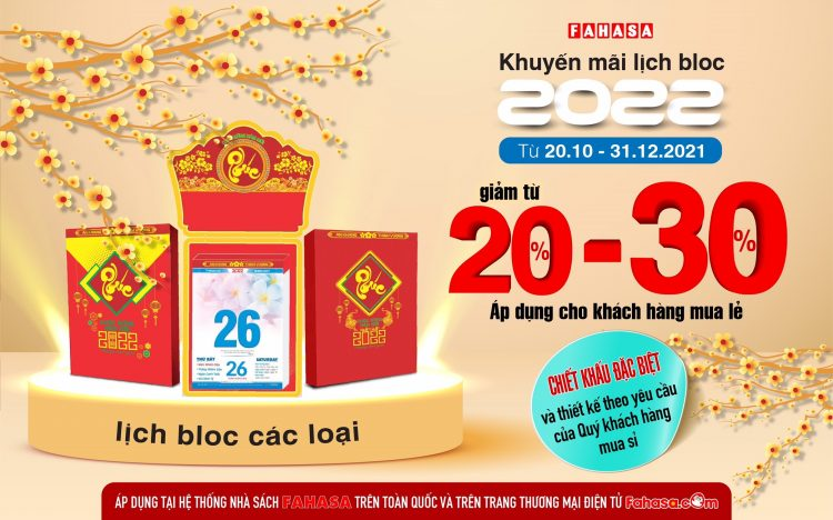 SALE UP TO 30% IN FAHASA 2022 GRACE SCHEDULE